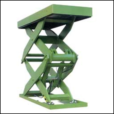 double vertical scissor lift table